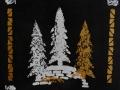 Kaksi valkoista kuusta, 2021 akryyli kankaalle, 4040 cm, Sarjasta Metsän suojassa