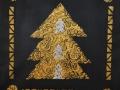 Kultainen kuusi, 2021 akryyli kankaalle, 4040 cm, Sarjasta Metsän suojassa